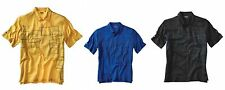 Ping P3 OSCAR BROWN Performance Mens Polo Golf Shirt BLUE-YELLOW pic size color