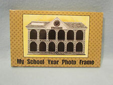 My School Year Photo Frame Pewter Metal Picture 1st-12th Grade Graduation House