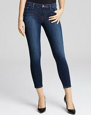 NWT J Brand Capri Mid-Rise Skinny Leg Stretch Whiskered Jean in Med Wash