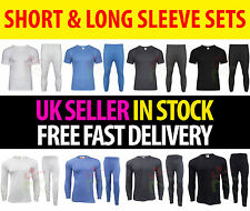 Mens Thermal Long Johns Short Full Sleeve T Shirt Set Warm Thermal Underwear Lot