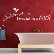 Splish Splash Bath Shower Quote Bathroom Wall Stickers Bathroom Decor Art Decals