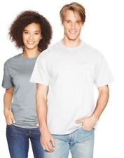Hanes Beefy-T Adult POCKET T-Shirt - Full Cut - 25 COLORS - S-3XL