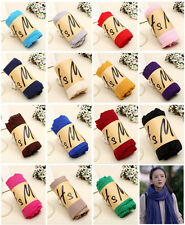 Women Girl Autumn Winter Solid Long Scarves Casual Cotton Scarf Wraps Shawl Gift