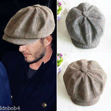 Hot Cabbie Newsboy Cap Mens Ivy Hat Golf Driving Summer Sun Flat Octagonal Cap