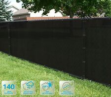 Customized Privacy Screen Fence Windscreen Garden Fabric Shade Black 4'FT 51-100
