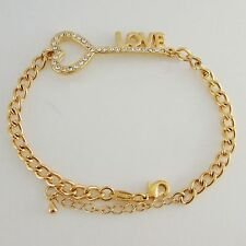 Classic 18K Yellow Gold GP Filled Brass Bracelets Various Designs for Men Women