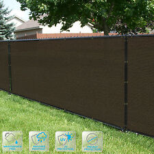Customized Privacy Screen Fence Windscreen Garden Fabric Shade Brown5'FT 51-100