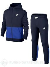 Boys Nike Tracksuit  Age 6 to 15 years NEW Navy/Royal Blue Junior Brushed Fleece