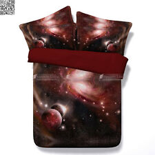 GALAXY Quilt Duvet Doona Cover Set DOUBLE/QUEEN/KING/SUPER KING size bed NEW RED