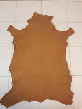 Lambskin Genuine Leather Hide Camel 2-3 oz.Buttery Touch Naked Beautiful Hide