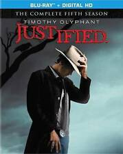 Justified The Complete Fifth Season (Blu-ray Disc, 2014, 3-Disc New! Ships fast!