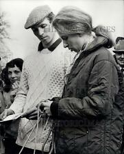 1973 Press Photo Princess Anne and Mark Phillips at Horse Trials