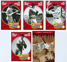 Lot of 5 Joe DiMaggio 2005 Upper Deck Baseball Heroes Red Trading Cards