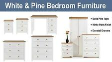 Bedroom Furniture Wardrobe Chest of Drawers Bedside White & Pine