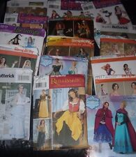 CHOOSE one miss Costume PATTERN sz 6-12; 7-14 Frozen Pirate Dance Hall Wicked