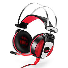 EACH GS500 3.5mm Gaming Headset Headphone with Mic Stereo Bass LED Light for PS4