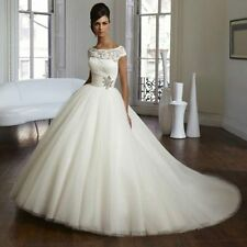 2017 Wedding Dresses Cap Sleeve Ball Gown Zipper Luxurious Bridal Gown Size 6-16