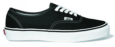 VANS AUTHENTIC BLACK MENS CANVAS SHOES CASUAL SKATEBOARD SNEAKERS