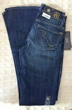 NWT ROCK & REPUBLIC Jeans Bootcut Dark Blue Studs HUNTRESSED 0M  Womens Denim 28