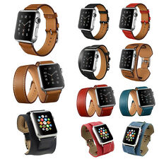 Genuine Leather Band Strap Bracelet Watchband For Apple Watch iWatch 38mm 42mm