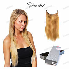 """Stranded Synthetic 22"""" Straight Virtu Invisi Hair Extension One Piece Hair"""