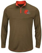 Cleveland Browns NFL Mens Majestic Therma Base 1/4 Zip Fleece Big & Tall Sizes