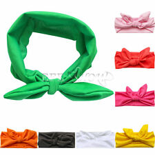 Cute Baby Toddler Girl Kid Turban Knot Rabbit Headband Bow Hairband Headwear