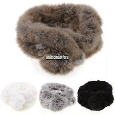 New Stylish Women Warm Faux Fur Scarf Scarves Shawl Fur Collar Thicken ONMF