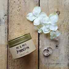 Personalised wedding candle - handmade scented soy wax tin - wedding candle