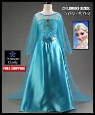 Frozen Costume Dress Girl Disney Princess Queen Elsa Princess Anna Fancy Dressup