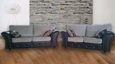 NEW LONDON SOFAS 3+2 SEATER BLACK/GREY AND BROWN/BEIGE - FREE DELIVERY IN LONDON