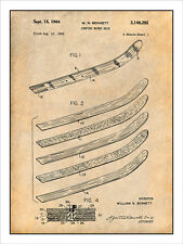 1962 Bennett Jumping Water Skis Patent Print Art Drawing Poster 18X24