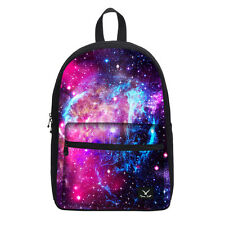 Kids Cosmic Space Series Canvas Backpacks Schoolbag Book Bag College Mochila Bag