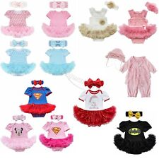 2PCS Halloween Baby Romper Tutu Jumpsuit Dress Outfit Girls Headband Costume