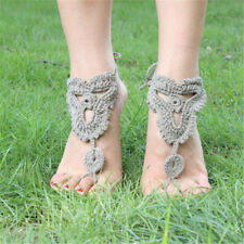 Bridal Wedding Beach Sandals Foot Jewelry Crochet Barefoot Anklet Knit Anklet