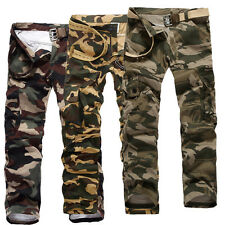 Men's Casual Military Army Cargo Combat Camo Camouflage Overall Sports Pants bb2