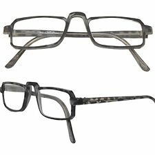 GREY TORTOISE  1/2 Frame Calabria Light Weight Zyl Reading Glasses +0.50 - +5.00