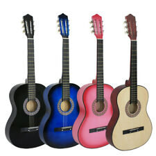New Beginners Acoustic Guitar With Guitar Case, Strap, Tuner and Pick 4 Color