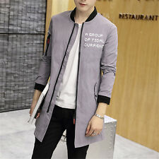 Stylish Men's Coat Casual Outwear Letter Stand collar baseball uniform Jacket