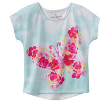 NWT Jumping Beans Multi White Butterfly Tee Girls Toddler 2T 3T 4T, Girls 5, 6X