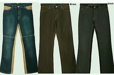 Mens Jeans Blue Black & Trousers 2 Pack Two Tone Waist 34in. 32 34in Length