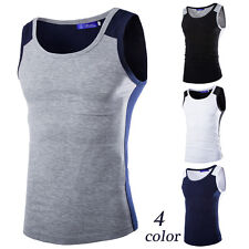 Mens New Fashion T-Shirt Cotton Sleeveless Muscle Tee Shirts Vest Tank Tops U21