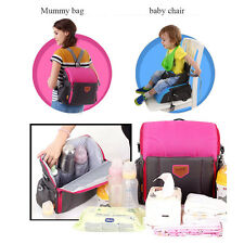 New Multifunctional Mummy Bag Travel Booster Seat Diaper Bag Backpack for Baby