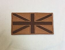 Union Jack Subdued Desert Badge, MTP Army Patch, British Military TRF, Hook Loop