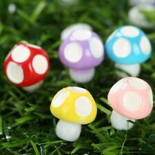 Mushroom Miniature Ornament Fairy Garden Resin DIY Decor Bonsai Figurine Craft