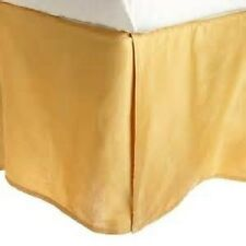 1 PC Bed Skirt Valance Egyptian Cotton 1000 TC Drop 15 Inch Gold Solid