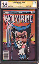 Wolverine #1 CGC SS 9.6 Limited Series Signed Miller & Claremont Old Man Logan
