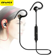 AWEI In-Ear Wireless Headphones Bluetooth Earphones For Phone With Mic Headset