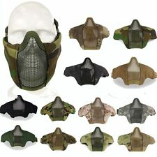 Tactical Airsoft Game Paintball Metal Mesh Half Face Mask Goggles Protection GB