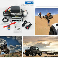 12000LBS 12v Electric Winch for Truck,Trailer,Jeep 12000LBS Recovery Winch LOT G